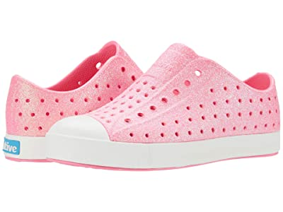 Native Kids Shoes Jefferson Bling Glitter (Little Kid) (Floyd Pink Bling Glitter/Shell White) Girls Shoes