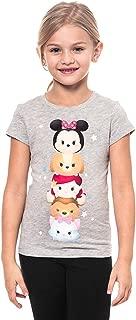Tsum Tsum Totem Pole Youth Girls Fashion Top T-Shirt, Gray