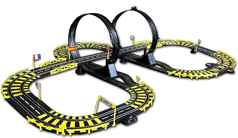 LINGLING Slot Car Tracks Children's Toy Electric Track Racing Pu