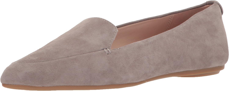 Taryn pink Women's Faye Silky Suede Loafer Flat