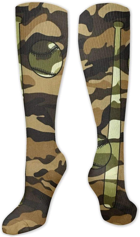 Camo Baseball Knee High Socks Leg Warmer Dresses Long Boot Stockings For Womens Cosplay Daily Wear