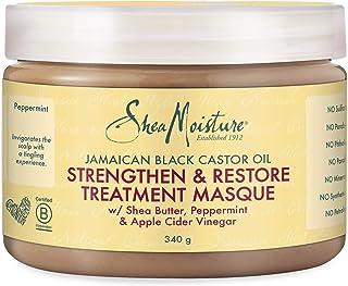 قناع علاج وتقوية الشعر بزيت الخروع الاسود الجامايكي من شيا مويستشر، وزن 12 اونصة