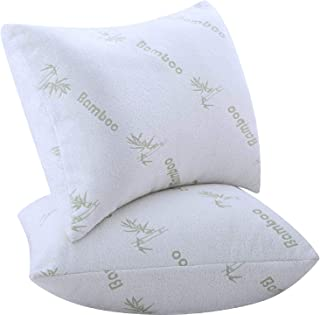 Niagara Sleep Solution Pillows for Sleeping 2 Pack Bamboo Ultra Soft Bounce Back Standard Queen Size 18 x 26 inches Pair Set of 2 Cool Washable Over Filled Pillows…