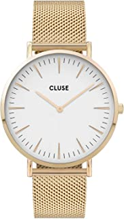 CLUSE Women's Quartz Watch with Stainless Steel Strap, Gold, 18 (Model: CW0101201009)