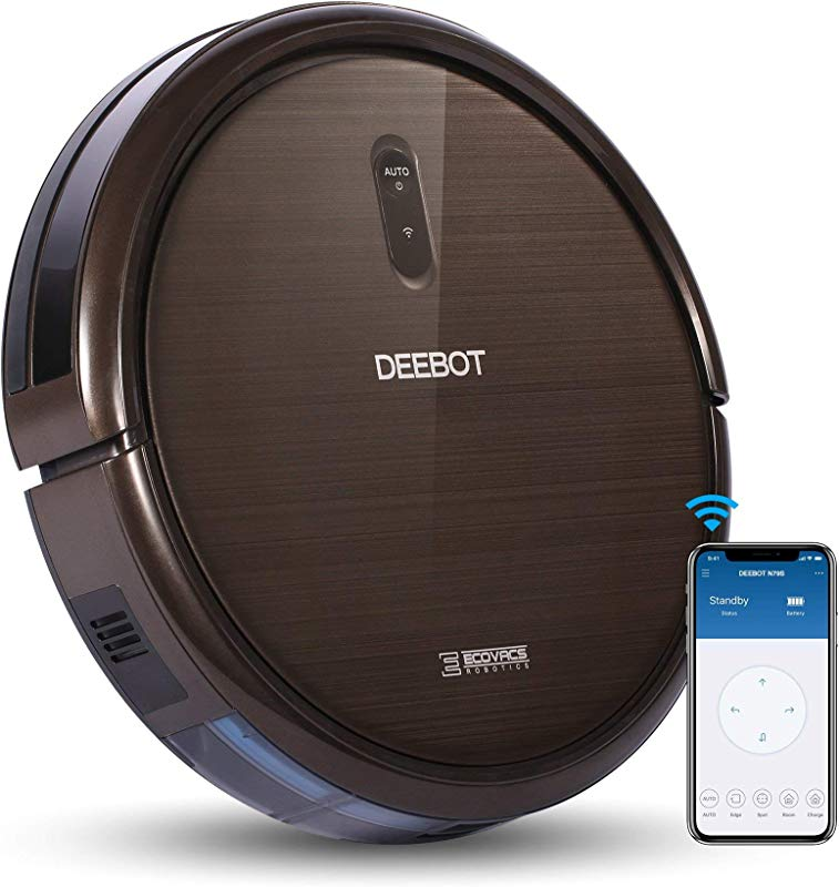 ECOVACS DEEBOT N79S Robot Vacuum Cleaner With Max Power Suction Alexa Connectivity App Controls Self Charging For Hard Surface Floors Thin Carpets Renewed