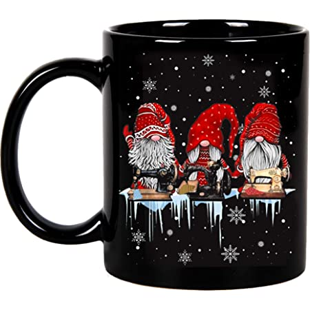 Buffalo Plaid Vinyl Gnome Mug Christmas Feltie Xmas Planner Clip Winter Badge