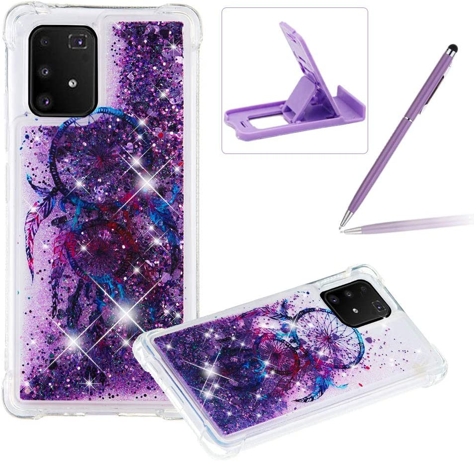 Herzzer Liquid TPU Case for G Samsung 2021 autumn Today's only and winter new Galaxy A91 Shock-Absorbing