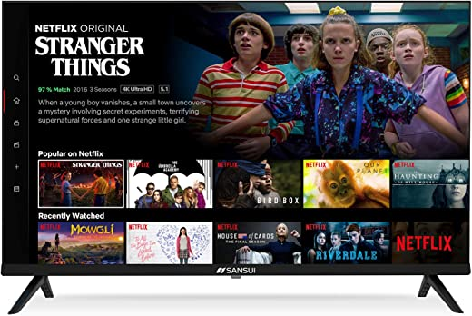 """SANSUI ES32S1N 32"""" HD HDR Smart TV Television 32-inch Built-in HDMI, USB - Support Screen Cast Mirroring(2021 Model)"""