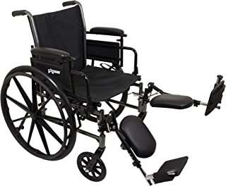 """ProBasics Lightweight Wheelchair for Adults - Flip Back Height Adjustable Desk Arms with Elevating Leg Rest - 20"""" x 16"""" Seat"""