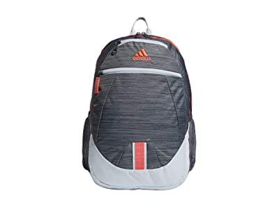 adidas Foundation V Backpack (Looper Grey/Sky Tint/Signal Pink/Onix) Backpack Bags