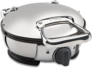 All-Clad WD700162 Stainless Steel Classic Round Waffle Maker with 7 Browning Settings, 4-Section, Silver
