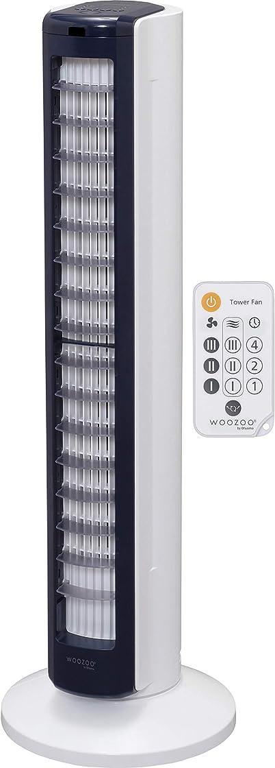 Ventilatore a torre silenzioso e oscillante con telecomando - woozoo twf-c82t - 42 w, portata 10 m iris ohyama 530421