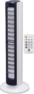Iris Ohyama, Ventilateur Colonne / Tour Ultra-Puissant, Silencieux et Oscillant avec Télécommande - Woozoo - TWF-C82T, bla...