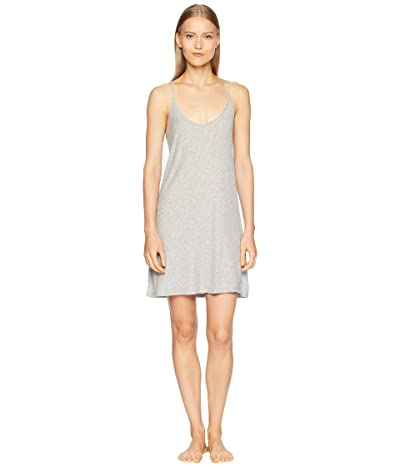 Skin Pima Cotton Slip 34 Length (Heather Grey) Women