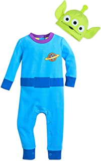 Disney Toy Story Alien Stretchie Sleeper and Hat for Baby Size 18-24 MO Multi