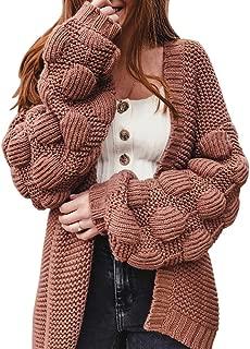 Women Oversized Cardigan Knitted Cute Chunky Sweaters Wrap Long Fall Pom Pom Open Front Knit