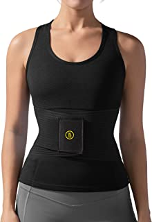 Hot Shapers Waist Trainer for Women – Compression Workout Belt – Hourglass Body Shaper – Flex Band and Wrap for Tummy – Adjustable Girdle for Stomach