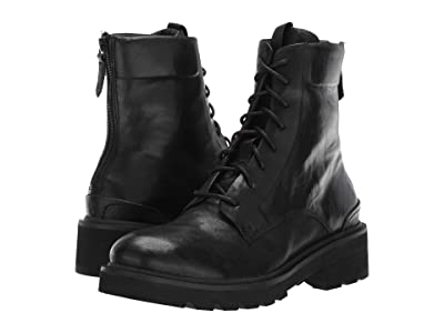 Frye Allison Combat (Black Antique Soft Vintage) Women