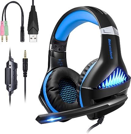 ShinePick Cuffie Gaming, Cuffie da Gioco con 3.5mm Jack LED e Microfono Insonorizzato,Bass Stereo Audio Surround Cuffie da Gaming per PS4 / Xbox One/Xbox One S/Nintendo Switch/PC/Laptop(Blu) - Trova i prezzi più bassi