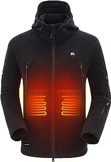 comprar comparacion DEWBU Polar Fleece Chaqueta Calefactable con 7.4v Batería Chaqueta Calentador para Hombre