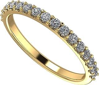 NANA Swarovski Zirconia Wedding Band, Sterling Silver or 10 karat Gold, White/Yellow/Rose