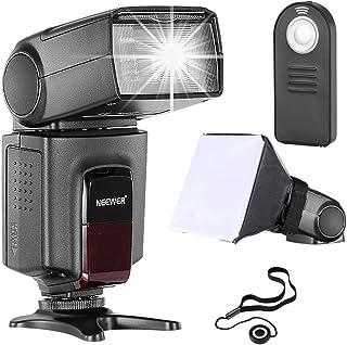 Neewer TT560 flash Speedlite Kit para Canon Nikon Panasonic Pentax Sony y Otros DSLR cámaras con Zapata Caliente Estándar incluye: (1)TT560 Flash + (1)Mando Remoto + (1)Universal plegable Difusor de flash + (1)Soporte para tapa del objetivo