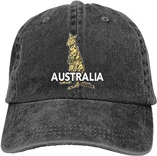 Denim Cap Australian Kangaroo Baseball Dad Cap Classic Adjustable Sports for Men Women Hat