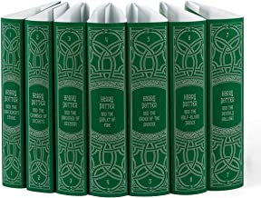 Juniper Books Harry Potter Slytherin House Custom DUST Jackets ONLY (Books Not Included)   for Your Seven-Volume Hardcover Book Set