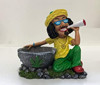 Ibex BOB Marley Style Rasta Jamaican Man Ashtray Smoking