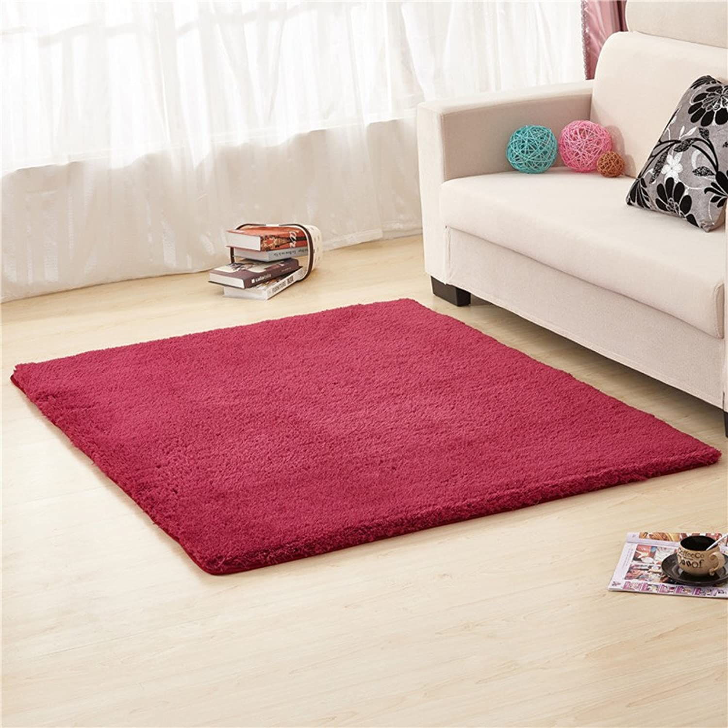 Doormats Kitchen Bathroom Water-Absorption Anti-Skid mat Bedroom Blanket for Bedroom -E 100x200cm(39x79inch)