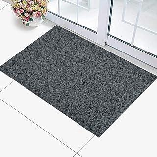 KUBER INDUSTRIES KUBMART004990 Rubber 1 Piece Door Mat 16x24'', Grey, 40x60 cm