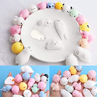 Adkwse Squishy Kawaii Set, 36 Stück Soft Silikon Spielzeug