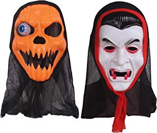 2 Pack Deluxe Novelty Halloween Masks Costume Party Props Latex Masks First and Only!