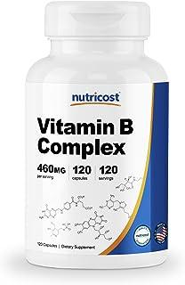 Nutricost ビタミンB複合体(460mg)、120カプセル、非GMO、グルテンフリー