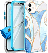 ROSEONLY Designed for iPhone 11 Case, Full Body Rugged with Built-in Screen Protector Soft TPU Bumper Slim Fit Shockproof Cover for iPhone 11 Case 6.1 inch - Blue