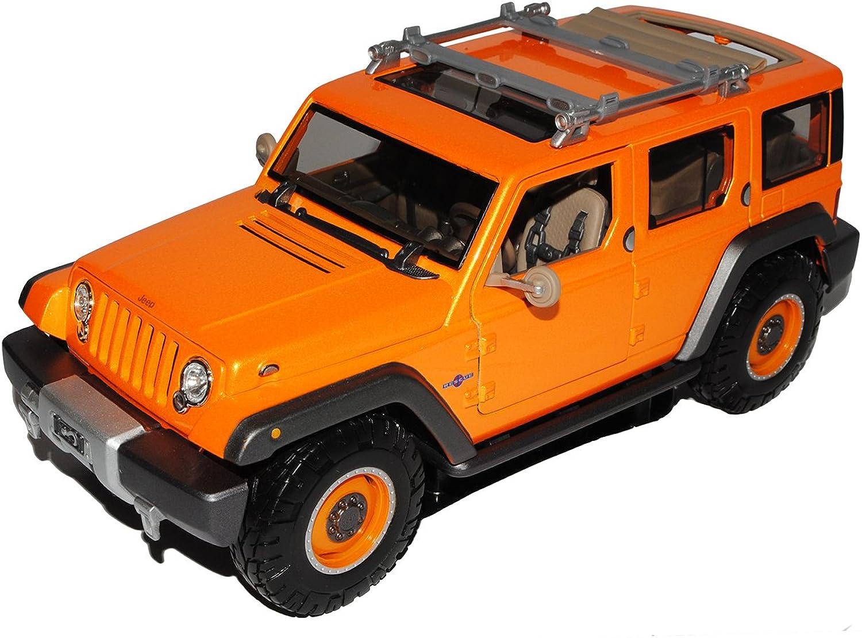 venta directa de fábrica Maisto Jeep Wrangler Rescue Rescue Rescue Concept Naranja Grand Cherokee 1 18 Modelo Auto  la mejor oferta de tienda online