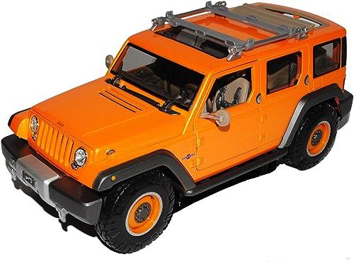 estilo clásico Maisto Jeep Wrangler Rescue Concept naranja Grand Cherokee Cherokee Cherokee 1 18 Modelo Auto  ventas de salida