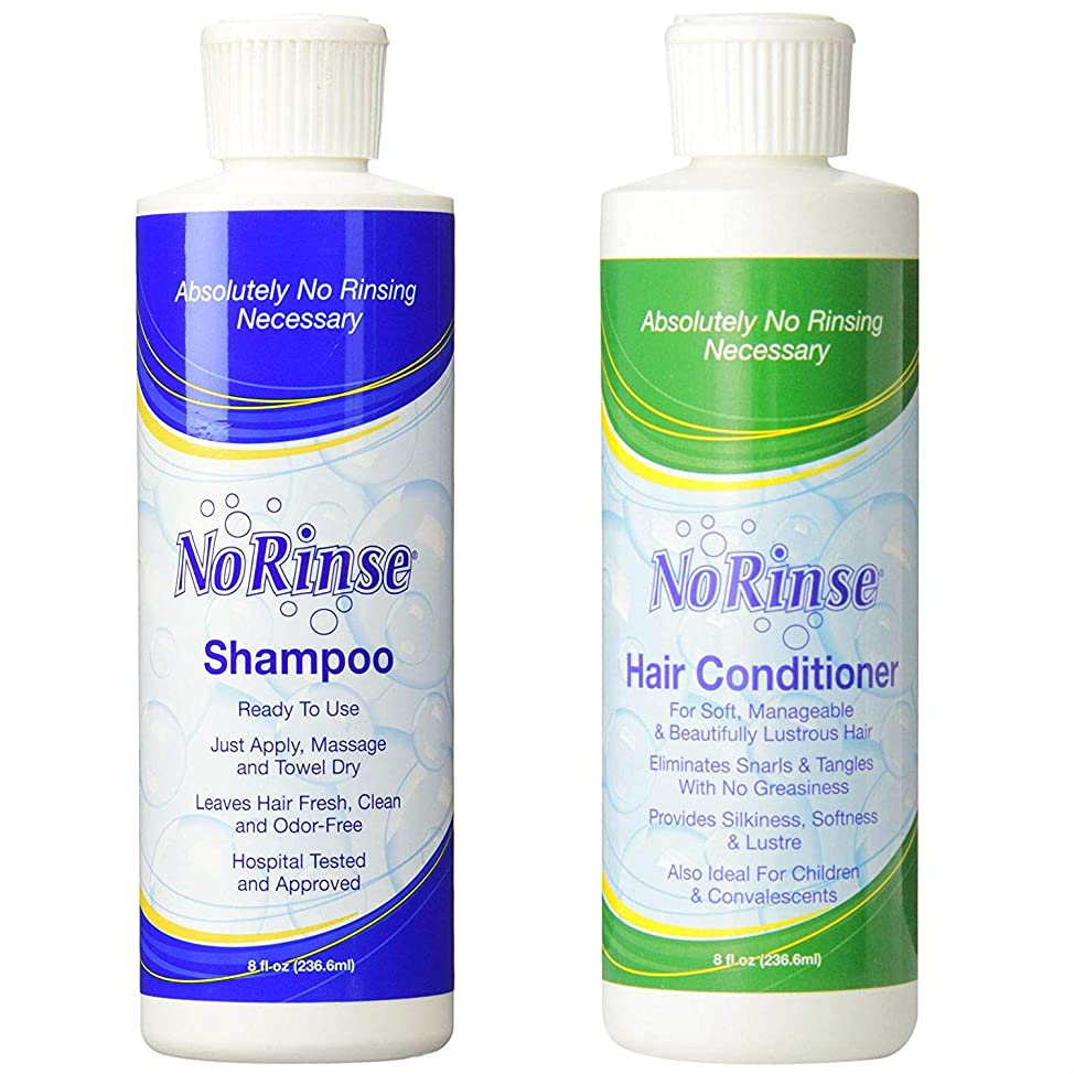 No-Rinse Shampoo and Conditioner Bundle - 8 fl oz per Bottle