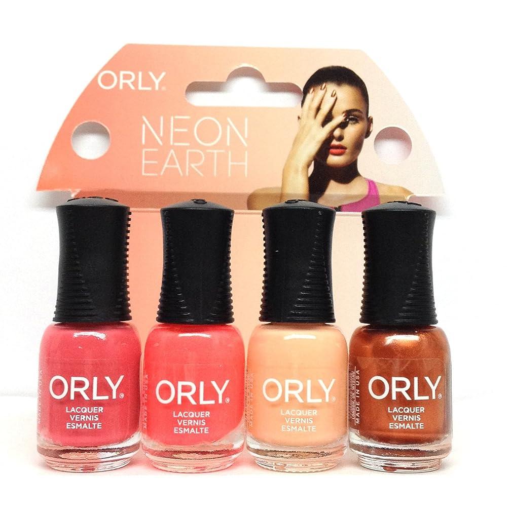に対応義務づける大使館Orly Nail Lacquer Mani Minis - Neon Earth - 4 x 0.18 Fl Oz / 5.3 mL