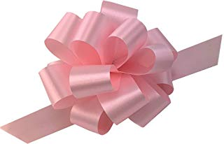 "Rose Petal Pink Pull Bows - 5"" Wide, Set of 10, Wedding, Gift Bows, Easter Basket, Party Décor, Breast Cancer Awareness, Gender Reveal, Baby Shower, It's a Girl"