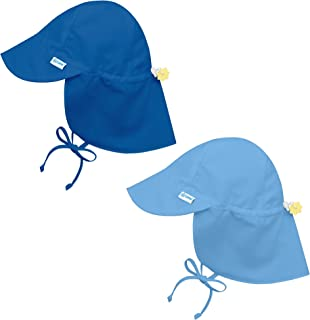 i Play 2 Pack UPF 50+ Sun Protection Flap Sun Hats/Beach Hats Solid White
