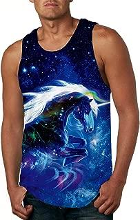 Men's All Over Print Sleeveless Tank Top Casual Sport Gym Vest Shirt