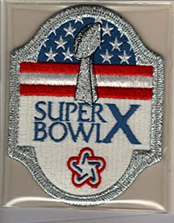 Super Bowl X 10 Official Patch Pittsburgh Steelers vs Dallas Cowboys at Orange Bowl