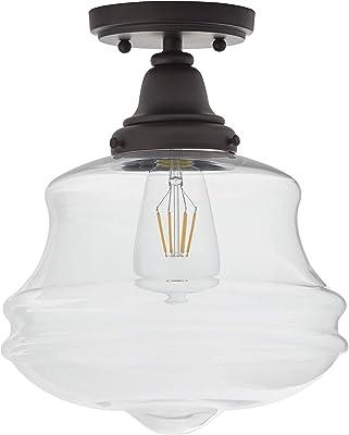 13H x 16W Minka Lavery Semi Flush Mount Ceiling Light 1730 Series 1738-613 3LT 180 watt Glass Polished Nickel