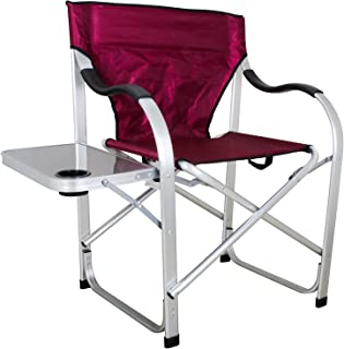 Ming's Mark Stylish Camping SL1215 Burgundy Heavy Duty Folding Camping Director..