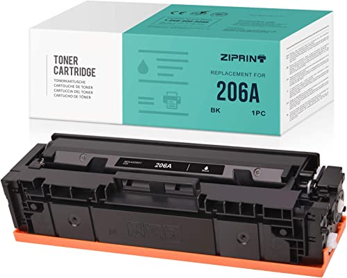 popular ZIPRINT NO CHIP Compatible Toner Cartridge Replacement for HP 206A W2110A use with Color Laserjet Pro M255dw Color Laserjet MFP sale M283fdw MFP online M282nw MFP M283cdw Printer (Black, 1 Pack) online