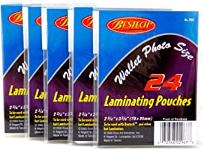 Bestech Wallet Photo Size Laminating Pouches, 2.75 x 3.75 Inch, 144 Total Pouches