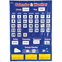 136 Piece Learning Resources Calendar & Weather Pocket Chart