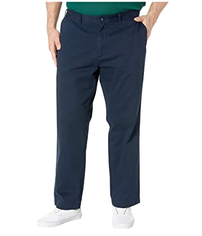 Nautica Big & Tall Big Tall True Flat Front Pant (True Navy) Men