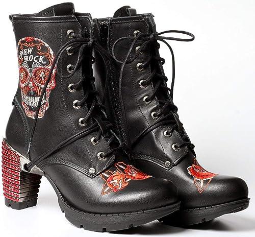 New Rock Swarovski schwarz Stiefeletten